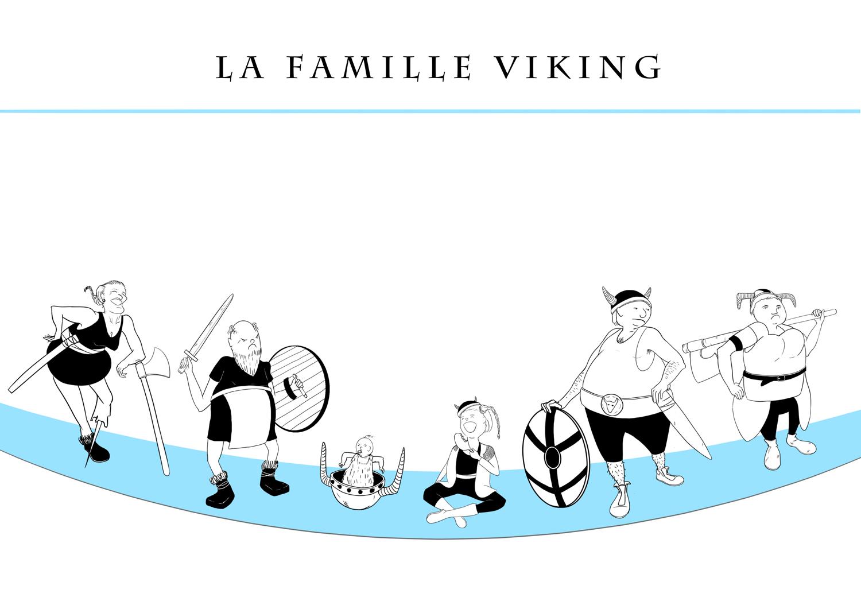illustration famille Viking
