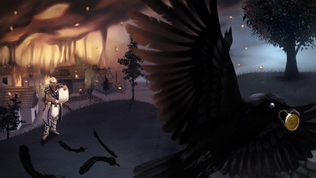 illustration corbeau