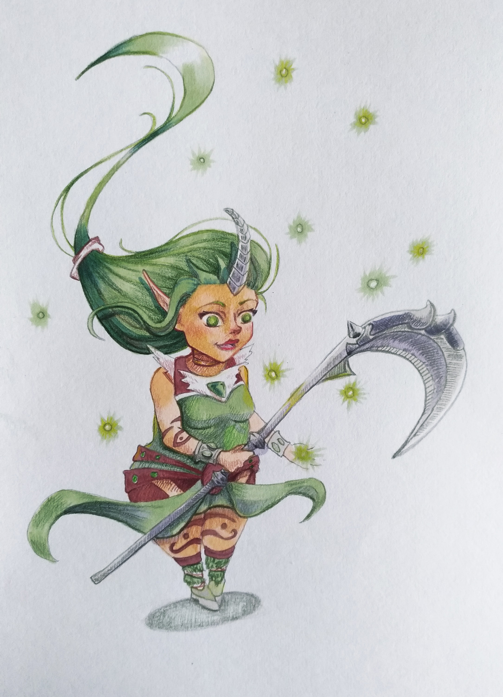 illustration soraka
