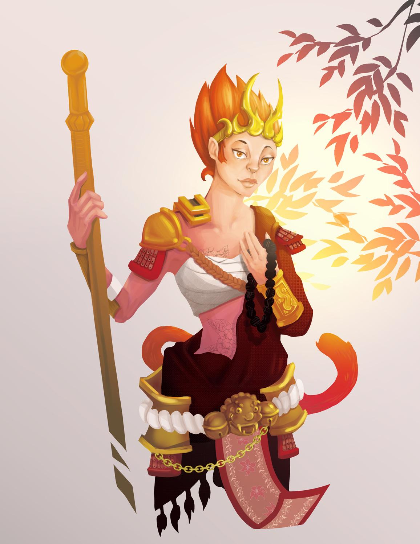 illustration wukong