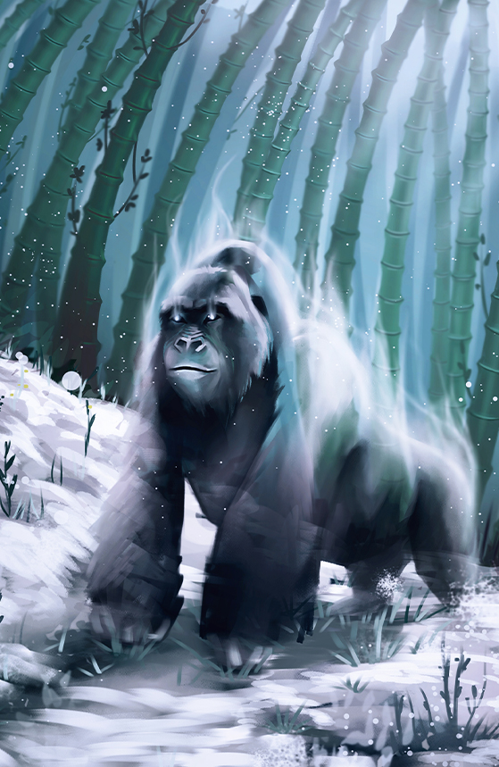 illustration esprit gorille